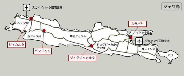 インドネシアの工業団地マップ