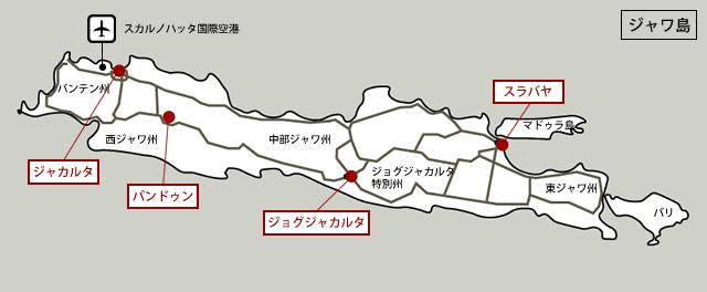 インドネシア工業団地マップ