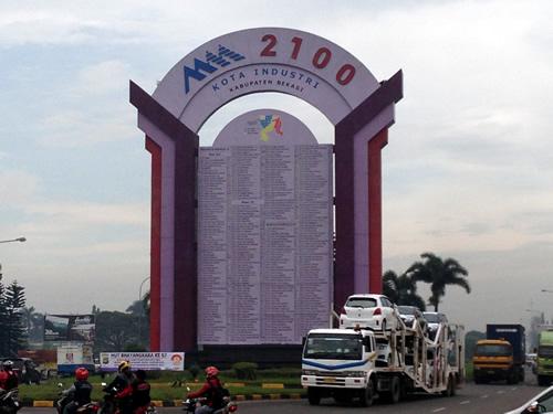 ジャカルタMM2100工業団地入り口