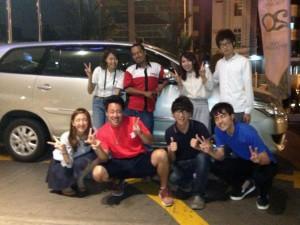 立命館大学産業社会学部篠田ゼミの学生さんたち (2014年夏 ジャカルタ)